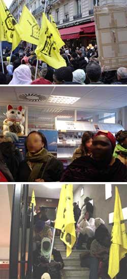 フランス・日本大使館に抗議!