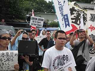 三鷹の反戦パネル展を妨害する在特会(9)