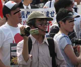三鷹の反戦パネル展を妨害する在特会(5)