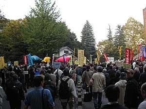 沖縄県民大会に呼応する東京デモ
