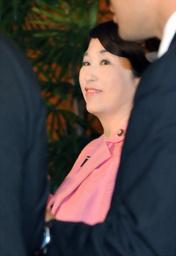 鳩山首相と会談後、官邸を出る社民党の福島瑞穂党首