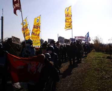 三里塚反対同盟2011新年デモ