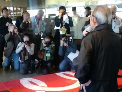 三里塚反対同盟2011旗開きにて北原事務局長