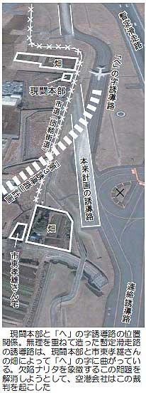 三里塚・「へ」の字誘導路