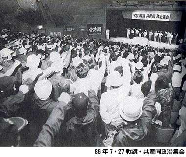 86年7・27戦旗・共産同政治集会