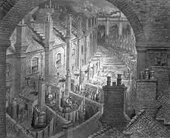 産業革命後のロンドンの様子