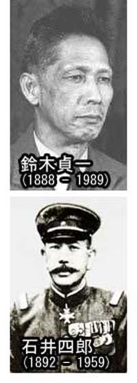 芝山出身の鈴木貞一と石井四郎