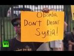 2013.08.30「オバマは軍事介入するな」ワシントンなどでシリア反戦デモ