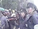 2006.01.30 大阪 野宿労働者への強制排除抗議闘争