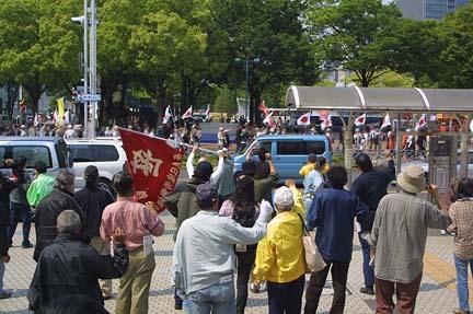 2009.05.02 在特会、外国人追い出しへ行動へのカウンター情宣
