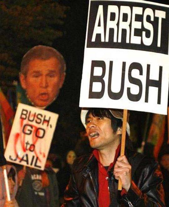2009.11.03 【写真速報】戦犯ブッシュ来日を迎え撃て!11.3緊急アクション