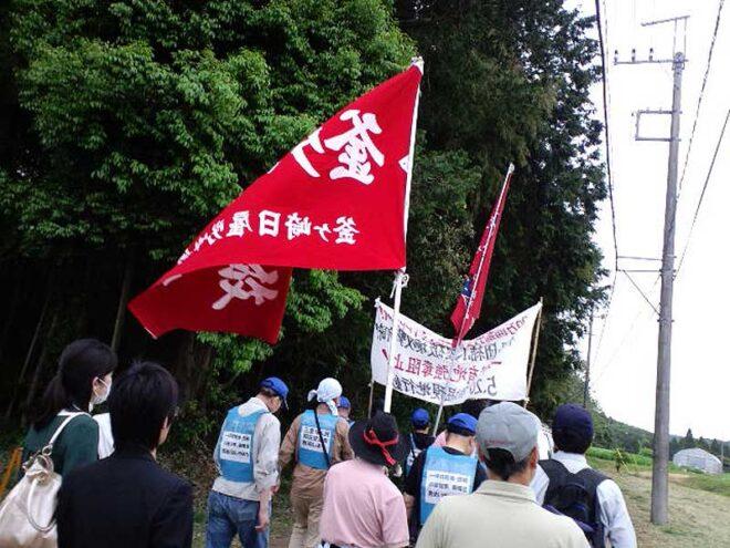 2012.05.20 横堀・団結小屋破壊を許さない!三里塚・横堀現地集会とデモ