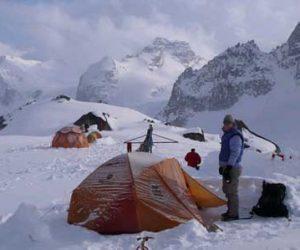 厳冬期登山イメージ写真