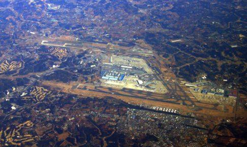 成田空港周辺の空撮写真