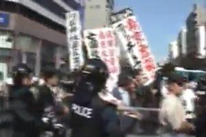 反靖国市民デモを襲撃・恫喝する右翼
