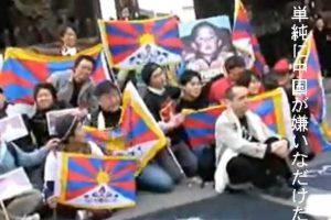 2008.04 聖火の長野に現れた醜い「似非チベット」=嫌中派ウヨク