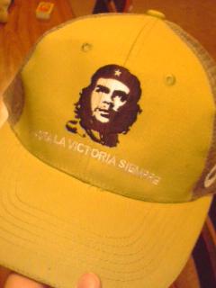 堺先輩にもらったゲバラ帽