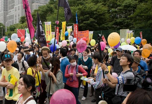 6.11脱原発100万人アクション in 新宿