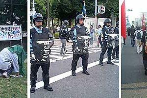 世界陸上への抗議行動報告
