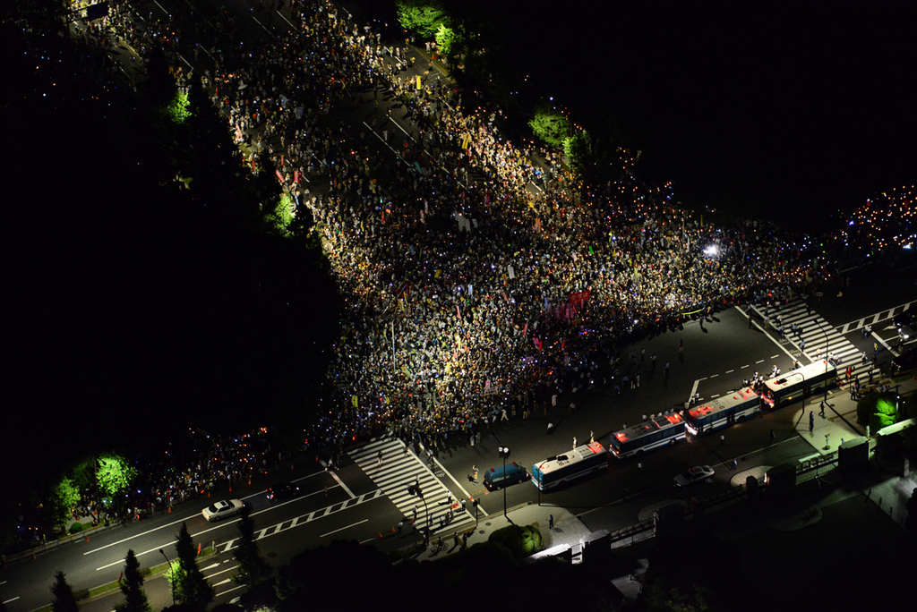 2012.07.29 脱原発国会大包囲(2)〜空撮・人が溢れた感動の一瞬