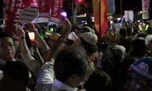 2012.07.29 脱原発国会大包囲(3)〜歩道決壊の瞬間
