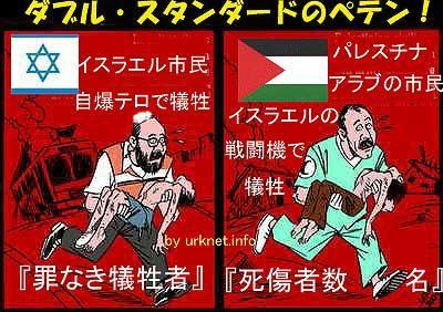 イスラエル問題「テロ」の欺瞞、パレスチナ紛争、ダブルスタンダードのペテン