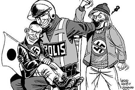 右翼レイシストと警察