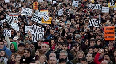 スペイン全土に反緊縮デモが拡大(2013)