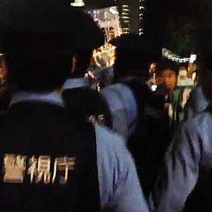 2014.06.17 集団的自衛権抗議行動への過剰警備