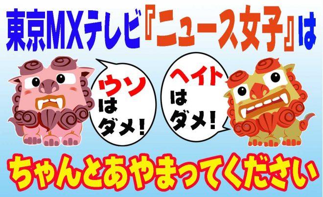 デマで沖縄への偏見をあおった「ニュース女子」 東京MXテレビは訂正と謝罪を!