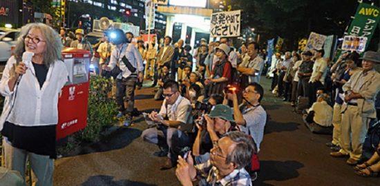 経産省前テント7周年9・11集会(撮影ムキンポさん)