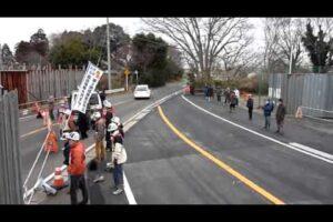 2011.02.04 空港会社が市東さん宅前の道路切り替え工事を強行