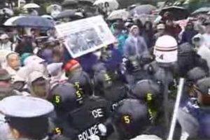 2008 反G8デモの禁止と参加者逮捕を弾劾する
