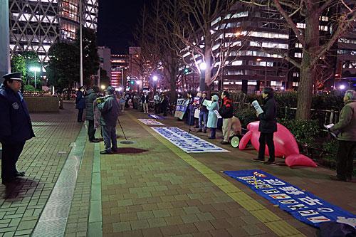 Stop!辺野古埋め立てキャンペーン 大成建設抗議行動