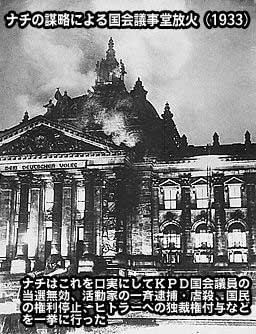 ナチの謀略による国会議事堂放火事件