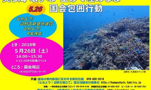 美(ちゅ)ら海壊すな 土砂で埋めるな 5.26国会包囲行動