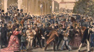 1873年の世界大恐慌 ウィーン証券取引所