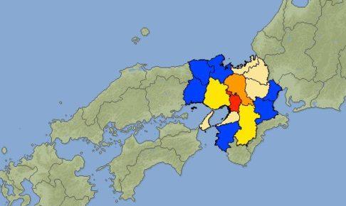 大阪府北部中心に地震