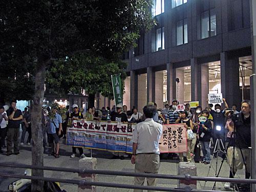 首相官邸「裏」からの抗議行動