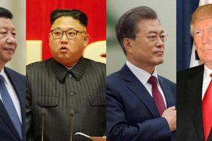 中朝韓米首脳写真