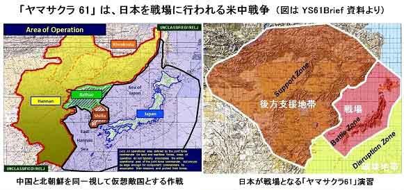 ヤマサクラ演習は日本を戦場に米中が戦うシナリオだ