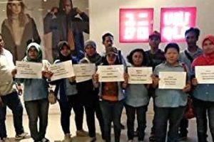 インドネシア・ユニクロ下請け労働者による要請行動