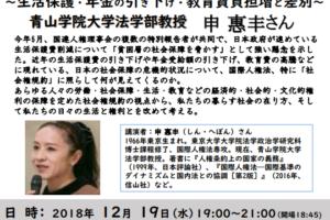 社会権規約から見た日本社会の現状について
