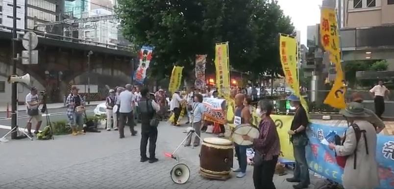東電本店合同抗議(東京・新橋