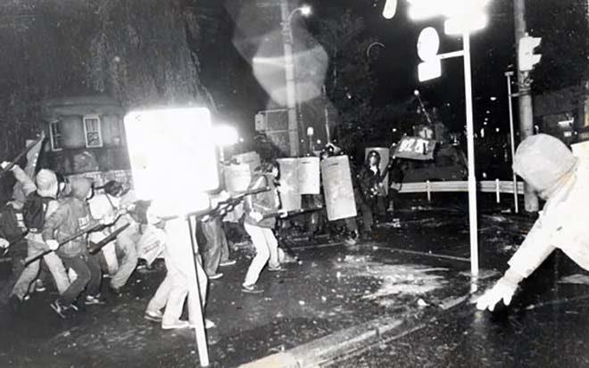 1983.11.6 レーガン来日阻止常盤橋戦闘