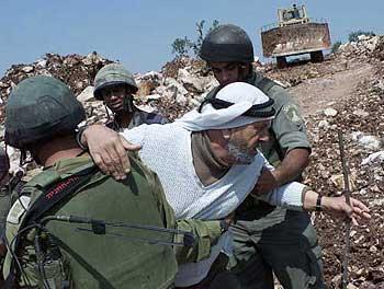 パレスチナ人の民家を破壊し土地を強奪するイスラエル軍