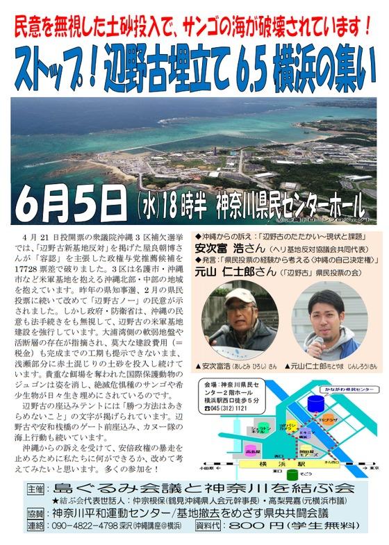 ストップ!辺野古埋立て6.5横浜の集い