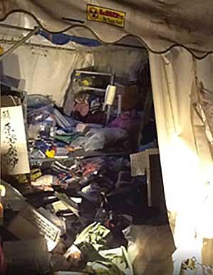 経産省前テント広場がネトウヨから襲撃
