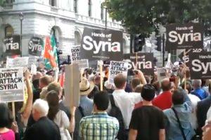 2013.08.29 ロンドンでシリア軍事介入反対デモ