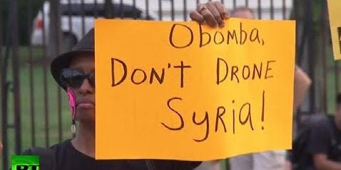 シリア空爆反対アメリカ行動